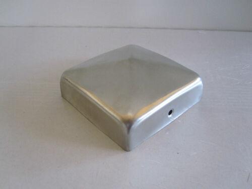 Pfostenkappe V2A  edelstahl 121x121 mm Pyramide Abdeckkappe für Pfosten 12x12 cm