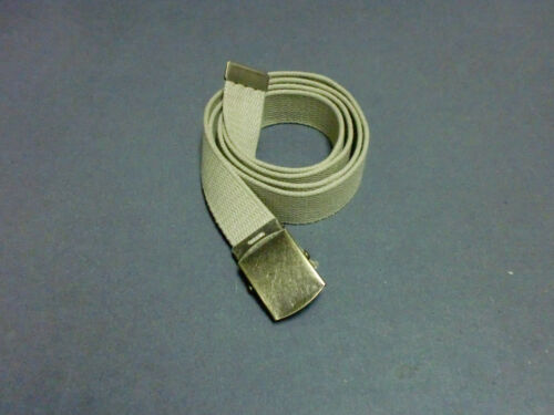 "Military Canvas Web Belt With   Metal Buckle color Fabric size  54/"" LOT OF 2"