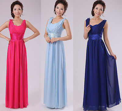 Sexy V-neck Women Formal Maxi Bridesmaid Dress Cocktail Party Gown Sizes S-XXL