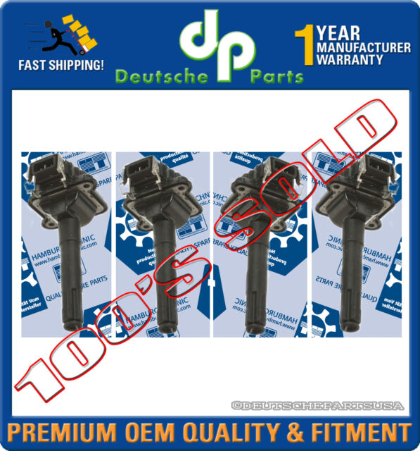 Audi A4 Vw Passat 1 8 1 8t Direct Ignition Coil Coils Set 058 905 105 Set 4