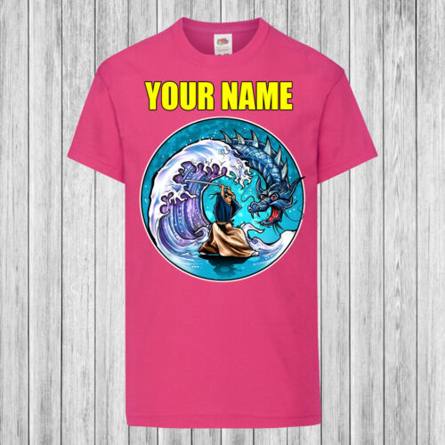 Children Personalized with name Kids T-Shirt DTG Samurai Dragon