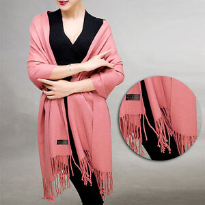 Stylish-Warm-Women-Cashmere-Silk-Solid-Long-Pashmina-Shawl-Wrap-Scarf-Range