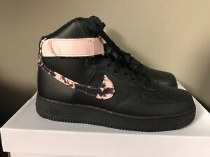 Nike Men Air Force 1 High Print (black white particle beige)