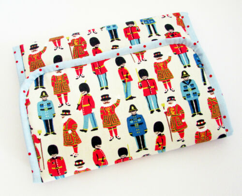 Handmade baby travel changing mat for bag Cath Kidston Guards Friends /& Oilcloth