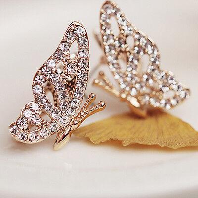 Ohrstecker Ohrringe Kristall Stern bling Ohrschmuck Strass Ohrring Schmetterling