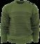 Relco-Herren-Mod-gestreift-Marine-Moss-Gruen-Guernsey-Strickpullover-Retro-Anker-Button Indexbild 1