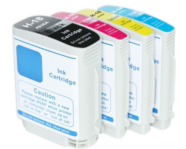 4 for HP 18 HP18 Ink Cartridge Officejet Pro K5400 K5300 K8600 L7580 L7380 L7590