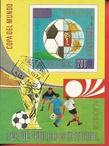 Neuartige Designs Herrliche Farben Und Exquisite Verarbeitung Fußballweltmeisterschaft 1974 Fußball Und Globus Block 77 Äquatorialguinea BerüHmt FüR AusgewäHlte Materialien
