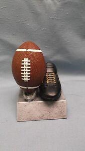 Pelota-y-Negro-Zapato-Futbol-Trofeo-Premio-Peso-Pesado-Resina-Pdu