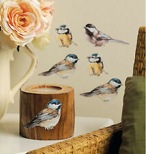 WALLIES baby BIRDS wall stickers 25 chickadee prepasted decals room decor cutout
