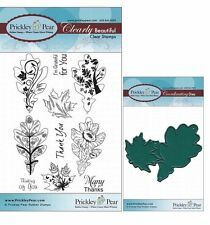 CLR011A /& PPRS-D011 Prickley Pear Dragonfly Clear Stamp and Die Set # 2 Bundle 2 Items