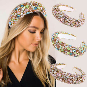 Baroque Full Rhinestone Hairband Crystal Headband Women Hair Accessories Crown