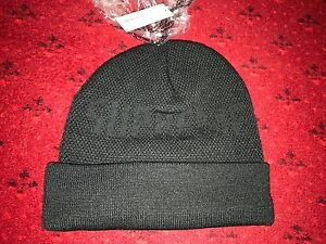 fd36c180b3c Image is loading SUPREME-ARCTIC-TONAL-BEANIE-HAT-BLACK-amp-WHITE-
