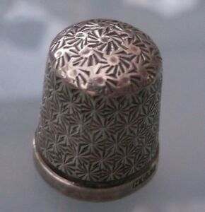 Antique-Silver-Thimble-Lovely-Condition-Hallmarked-No-Needle-Holes-To-Thimble