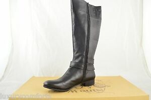 810000ec888 Nine West Shiza Size 5.5 M Knee High Boot Black Leather Fashion G568 ...