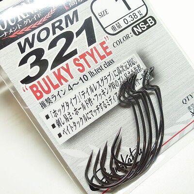 Gamakatsu Worm 321 Bulky Style NS-B Size 4//0