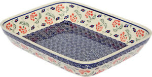 "Polish Pottery Baking Dish 8""x10""  from Zaklady Boleslawiec GU370/963"