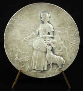 Medaille-1906-Saint-Andre-de-l-039-Eure-F-Rasumny-Concours-agricole-paysanne-Medal