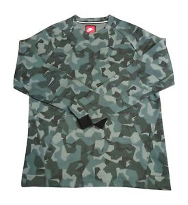 brand new 753d0 417f3 ... Nike-Molleton-Tech-Camouflage-Sweat-Col-Rond-Chemise-
