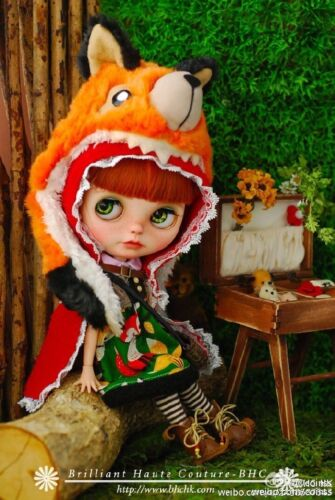 BHC FN674 Fox in Riding Hood Dress Set for Kenner Blythe doll outfit