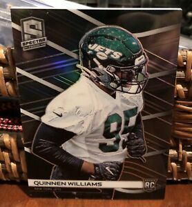 2019-Panini-Spectra-Quinnen-Williams-99-Rookie-Refractor-New-York-Jets