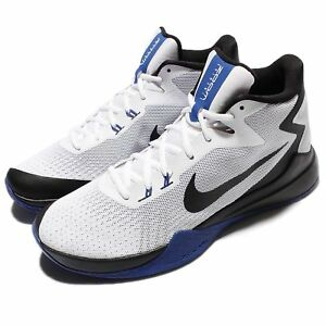 38516fbe17d Nike Zoom Evidence White Black Blue Men Basketball Shoes Sneakers ...