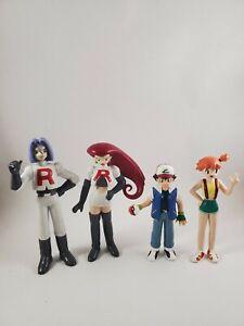 Pokemon Tomy 1998 Vintage Action Figure Lot Ash Misty Team ...