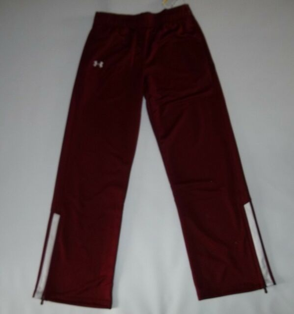 UNDER ARMOUR Burgandy TEAM Warm-Up Campus Track Sweat PANTS Womens XXL  2XL NEW