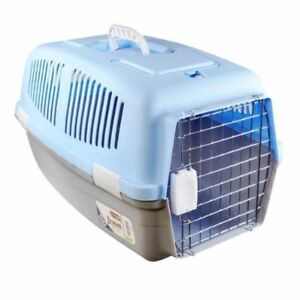 PLASTIC-PET-CAT-DOG-PUPPY-RABBIT-CARRIER-TRANSPORT-TRAVEL-KENNEL-CAGE-CRATE