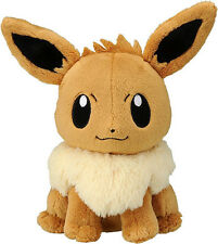 Takara Tomy Pokemon Plush Stuffed Doll Eevee Height About 19cm