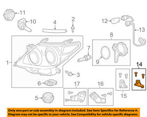 LEXUS 8119460120 GENUINE OEM REPAIR BRACKET