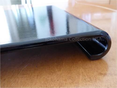 "18.5 x 11/"" Black Wood LAC Display Stand w//Curved Leg //Ikebana Bonsai//Made Japan"