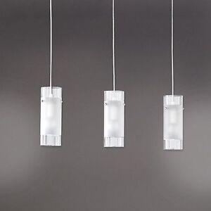 WOFI-lampara-colgante-MAX-3-Luces-Niquel-Mate-CRISTAL-TRANSPARENTE-3x-E14