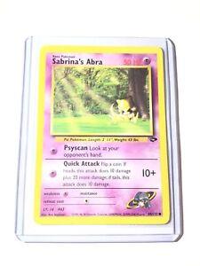 Sabrina/'s Abra 93 Gym Challenge Common Pokemon Card Near Mint