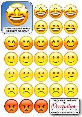 Orange Love Heart STICKERS Decoration Fun Adults Emoji Scrapbook Cute