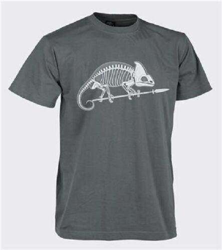 Helikon Tex Classic Army Lizard Cotton Shadow Grey Skull T-Shirt