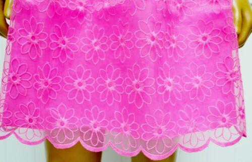 Rose Prix Lilly Payton Broderie Robe Pulitzer D'origine Pop Fleur Organza Savvy wIqITznr
