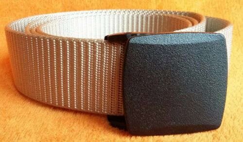 Ayliss Nylon Breathable Military Tactical Men Waist Belt Plastic Buckle Khaki