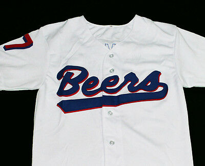 DOUG REMER #17 BASEketball BEERS MOVIE BUTTON DOWN JERSEY SEWN  NEW    ANY SIZE