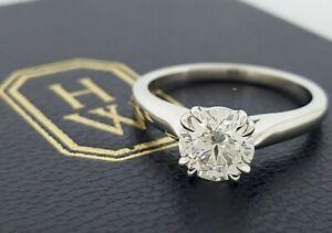 Harry Winston 1 01 Ct Round Diamond Solitaire Engagement Ring D Vvs1 Rtl 38k Ebay