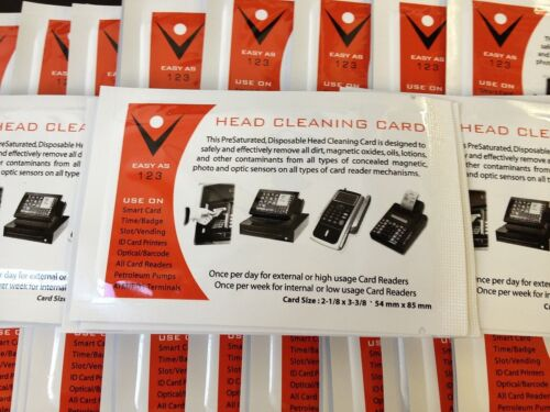 Pack of 40 CR80 Card Reader Cleaning Cards
