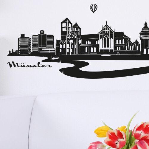 Skyline Münster comme tapisserie murale déco autocollant de Wandkings
