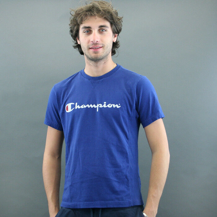Champion T-SHIRT m M mod. VINTAGE RETRO Denim bluee