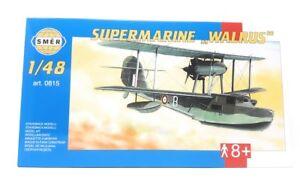 SMER-modellbau-plastico-kit-modelo-militar-1-48-avion-super-marine-Walrus