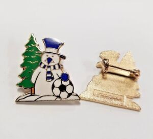 Snowman Manchester City Sky Blue /& White Collectors Enamel Pin Badge NEW