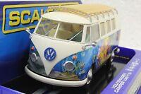 Scalextric C3761 Vw Volkswagen Bus Camper Hippie Van 1/32 Slot Car Dpr