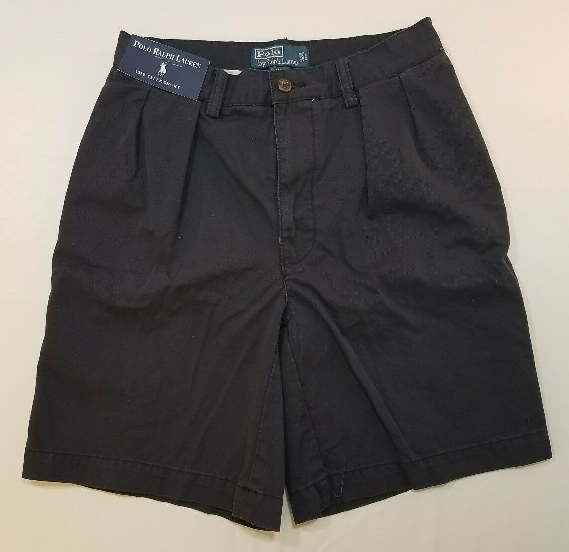 Polo Ralph Lauren NAVY blueE TYLER SHORTS PLEATED FRONT NWT