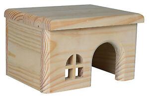 Toit plat Pine Lodge Maison en Bois pour Hamster Souris gerbilles & Petits Rongeurs-afficher le titre d`origine QidOPng6-07183420-625916909