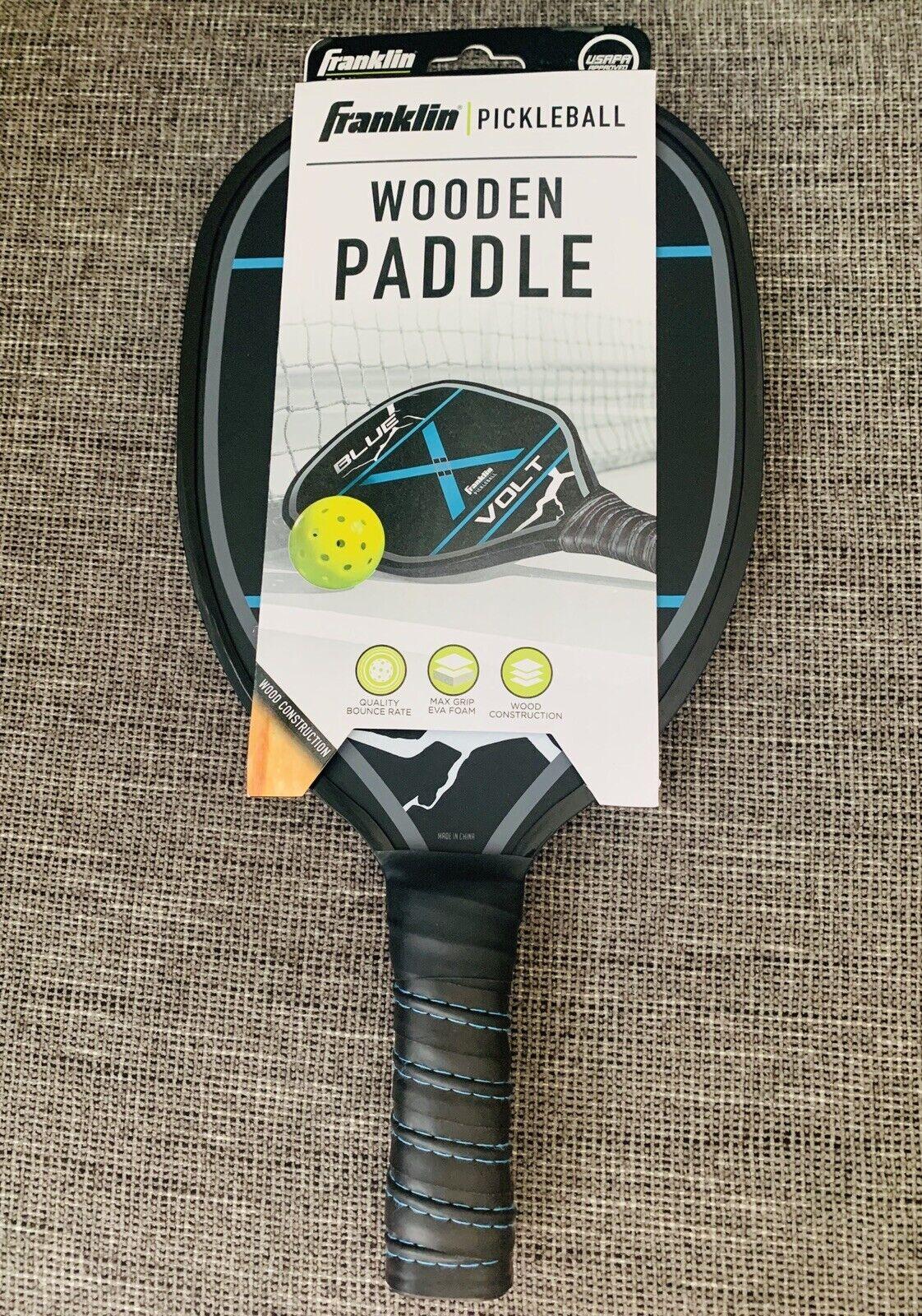Franklin Sports Pickleball Wooden Paddle Blue Volt USAPA Approved for sale online