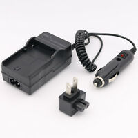 Ac Home+dc Car Battery Charger For Sony Np-fp30 Np-fp50 Np-fp60 Np-fp70 Np-fp90